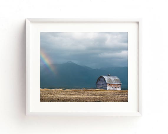 """""""Mission Mountain Barn"""" - landscape photography"""