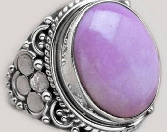 Purple Phosphosiderite and Sterling Silver Ring Size 8.25