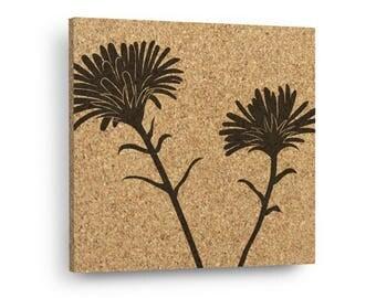 FLOWER Mix & Match Floral Cork Decor Art Tiles Or Kitchen Trivet - Wall DéCork