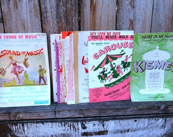 Lot of Vintage Sheet Music - Sound of Music, Carousel, and more!