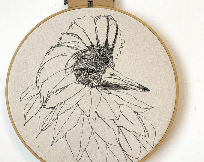 Featured listing image: Freehand Machine Embroidered Ruff Portrait