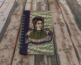 Frida Kahlo Upcycled journal sketchbook