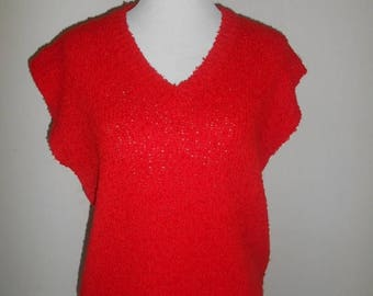 Closing Shop 40%off SALE Vintage Diane von Furstenberg Sweater top Red                     womens women ladies clothing clothes designer