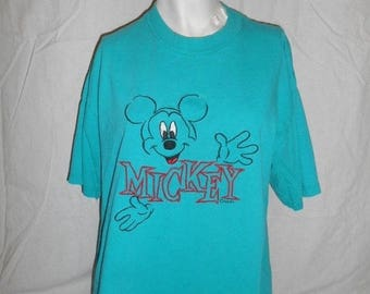 Closing Shop 40%off SALE Mickey Mouse Vintage  90's   T-shirt tee   t shirt      unisex mens womens