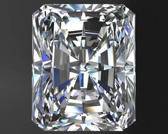 ZAYA moissanite - radiant cut moissanite, colorless moissanite, loose stones
