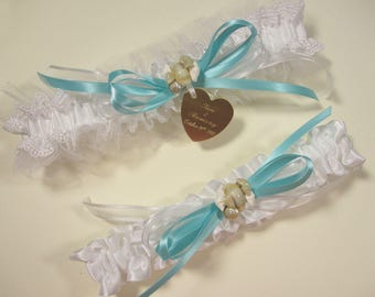 Beach Wedding Garter Seashells