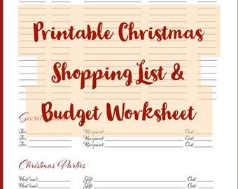 christmas budget spreadsheet