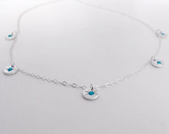 Starry - eyed charm necklace