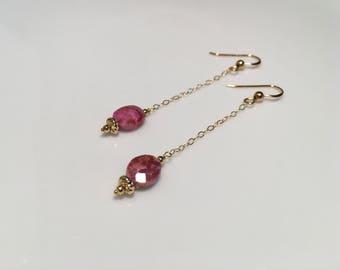 Silverite Pink Sapphire Earrings