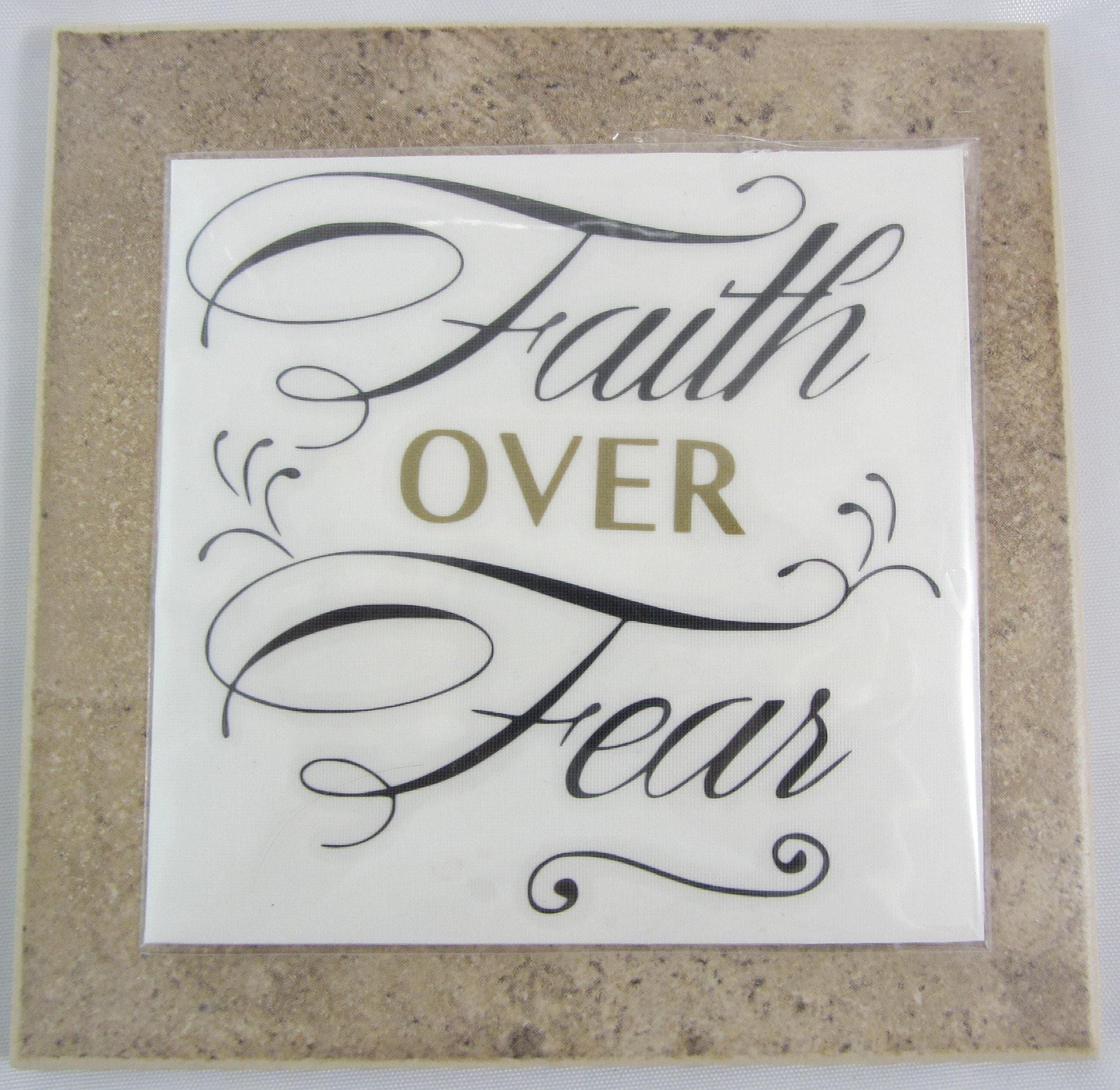 Faith Over Fear Vinyl Sticker Adhesive Vinyl Window Vinyl - Custom vinyl stickers hong kong