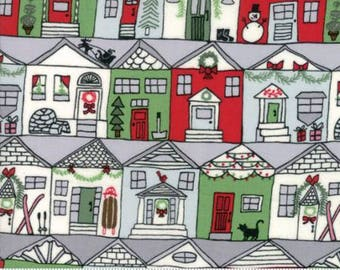 Merry Merry - From Kate Spain - For Moda - Houses (27271 11) - 1 Yard - 9.95 Dollars