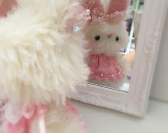 Powderpuff OOAK Japanese Anime bunny rabbit by bear artist Jenny Lee of jennylovesbenny bears