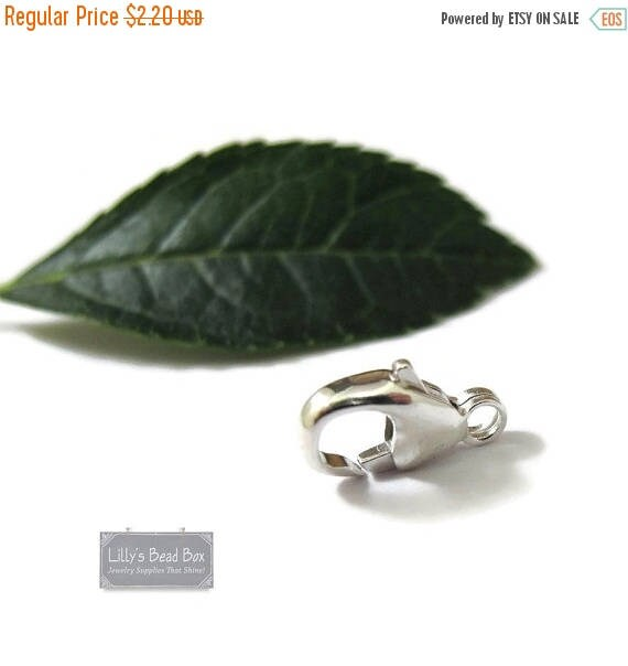 Summer SALEabration - One Silver Clasp, .925 Sterling Silver 11mm Lobster Claw, Silver Clasp, Silver Jewelry Findings, Jewelry Supplies (F 1