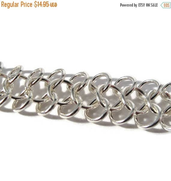 Summer SALEabration - Silver Plated Chain, 16 Inch Piece of Specialty Chain, AMAZING Chain, Jewelry Supplies (F-1a)