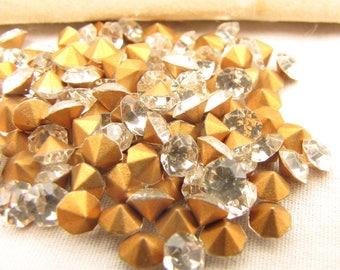 Vintage Clear Crystal Chatons Demi-Fins rhinestones Size 18 1000 ct