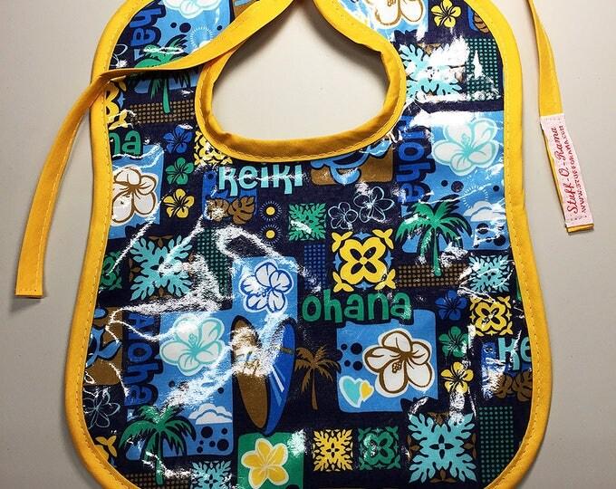 Wipeable Baby Bibs - Aloha Ohana Hawaiian