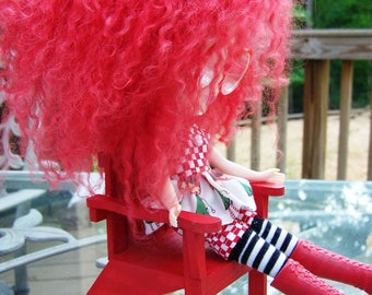 Playscale 1:6 Blythe Pullip Barbie YoSD Adirondack Chair in Red