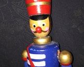 Vintage Wood Toy Soldier