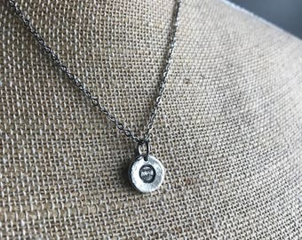 Baseball Necklace - Softball Necklace - Hand Stamped
