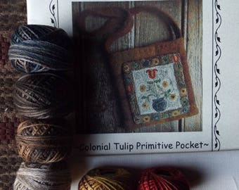 Wool Thread Kit Colonial Tulip Pocket Valdani Threads