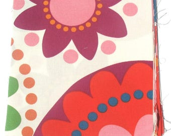Bright Flowers - IKEA Fredrika Cotton Fabric Quilting Charm Squares