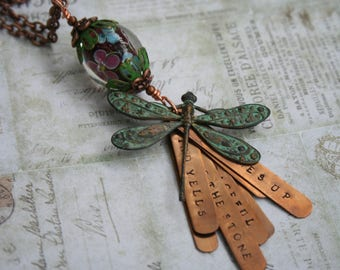 New Potato Caboose / Grateful Dead jewelry / Grateful Dead necklace / Jerry Garcia jewelry / Grateful Dead music jewelry / dragonfly