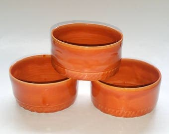 Ramekins - Wheel Thrown Pottery - Prep Bowls - Dipping Bowls - For use in Oven or Microwave
