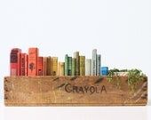 Vintage Crayola Crate, Crayola Crayons Wooden Crate