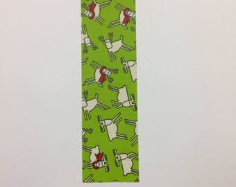 Bookmarks - duck duct tape - Reindeer Christmas