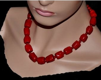 Statement Necklace,  Red Coral Necklace,  Gemstone Necklace,  Chunky Necklace,  Coral Jewelry,  Mother's Day Gift,  Fashion Jewelry