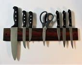 "18"" Knife Rack Holder Made Of Walnut And Padauk Woods"