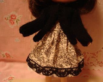 Blythe Toile Cotton with Lace Skirt for Pullip and Vintage Skipper Too!