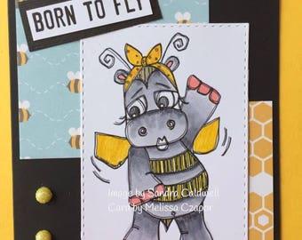 2038 Bee a Hippo Digi Stamp