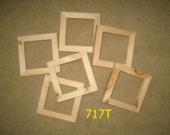 6 deep rabbet unfinished 4x4 frames for canvases