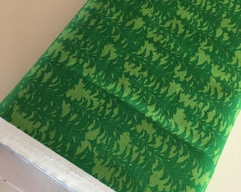 Outdoors fabric, Hike Camp Fish Hunt, Boy Room Decor, Baby Quilt, Tree Arrow, Blue Brown, Outdoors Trees in Light Green - Choose the cut