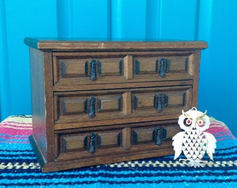 free mele 3 drawer wooden jewelry boxmusic boxdr