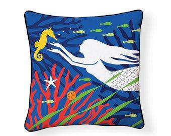 Mermaid Reversible Pillow