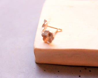 Flower Earstud, Sterling Silver Round Earstuds, Minimalist silver earstuds, Bohemian Silver Earring