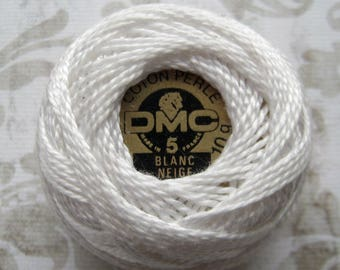 DMC Blanc -  Perle Cotton Thread Size 12- White, White off, Natural