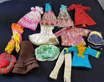 Vintage Barbie Doll Clothes and Backpack Bag 1960's - 1970's