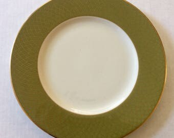 Lenox Colin Cowie Au Courant Dinner Plate Olive Gold Accent