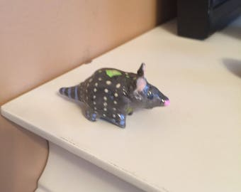 Gray Armadillo Miniature Totem