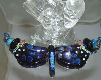 Butterfly Set lampwork glass beads