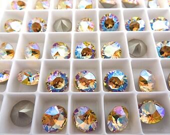 18 Light Topaz Shimmer Swarovski Crystal Chaton  Stone 1088 39ss 8mm