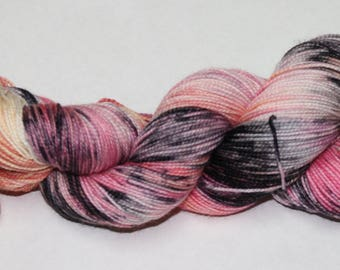 Ready to Ship - Zombie Romance Hand Dyed Sock Yarn - Sport Sock