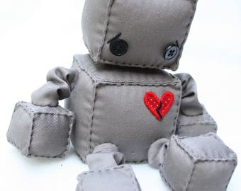 BrokenHeart the Sad Plush Robot