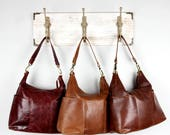 Leather Handbag, Bag, Purse, Brown, Tan, Dark Red