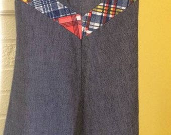 Vintage Toddler Girl denim dress jumper Teddy Gee American Maid size 6