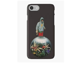 iPhone Case - Swan Song Canto 4 surreal collage art - Snap or Tough Case