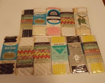 11 RICK RACK packages Vintage, Assorted Colors, Sew Supply, Crafting, Vintage Supply Children Sewing ScrapbookingDestash